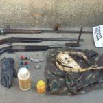 75ª Cia Pm realiza operação para coibir furtos e roubos e apreender armas, munições, produtos e efetua prisão de quatro envolvidos.