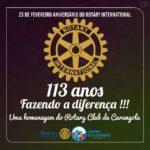 ROTARY INTERNATIONAL comemora 113 anos neste dia 23 de fevereiro.