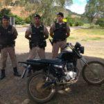 PM de Orizânia recupera a quarta motocicleta furtada/roubada em menos de 48 horas.