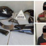 PM de Orizânia encontra peças de motocicletas furtadas/roubadas e prende dois suspeitos de diversos crimes na região.