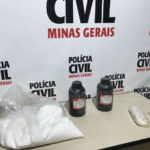 Polícia Civil estoura laboratório de produção de cocaína em Juiz de Fora.