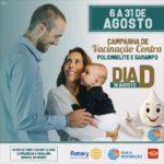 Rotary Club de Carangola incentiva a vacinação contra a Polio de 6 a 31 de agosto.