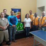 Unimed Vale do Carangola faz doação de 7 câmeras e uma mesa controladora para projeto de videomonitoramento da cidade de Carangola.
