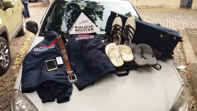 PM de Carangola recupera materiais furtados em zona rural.