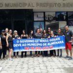 Prefeitura de Almenara em greve geral.