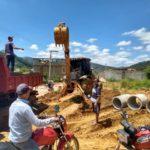 Manhuaçu -  SAAE constrói nova rede fluvial em Palmeiras