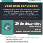 Audiência Publica de Prestação de Contas.
