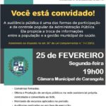 3ª Audiência Pública pela Secretaria Municipal de Saúde de Carangola.
