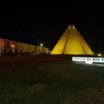 Templo da Boa Vontade ganha iluminação em apoio à campanha Setembro Amarelo.