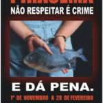 Não respeitar piracema é crime.