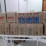 Sacolão Supermercados faz doação de álcool gel para Casa de Caridade de Carangola.
