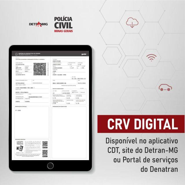 Polícia Civil implanta novos documentos digitais de veículos em Minas Gerais.