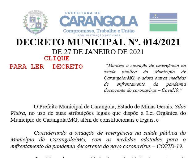 DECRETO MUNICIPAL Nº. 014/2021