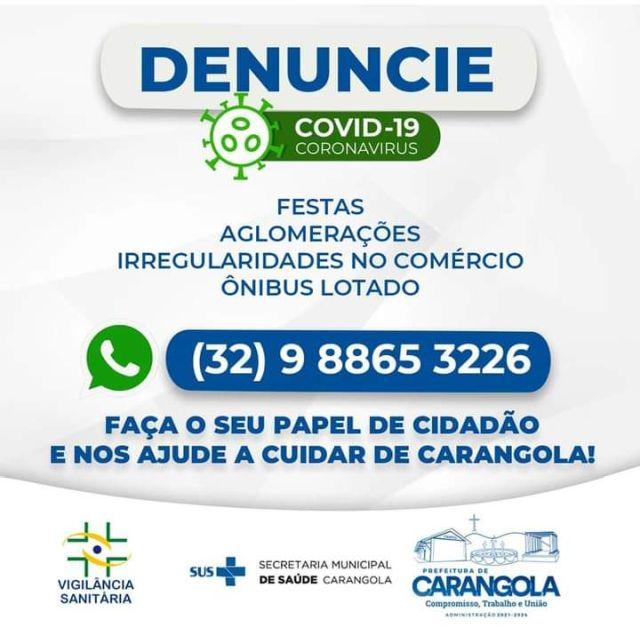 Vigilância Sanitária de Carangola – Denuncie.
