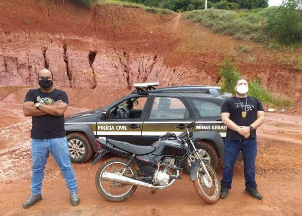 Policia Civil recupera em Reduto moto furtada em Carangola.